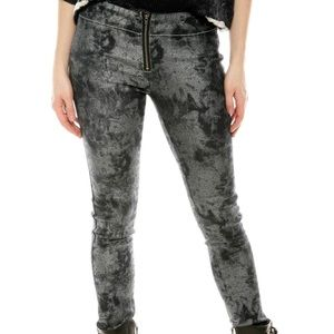 Members Only splatter coated jeggings dead stock Small NWT ACID WASH LOOK 90's